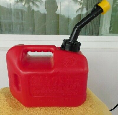 Blitz 1 Gallon Gas Can With Spout Used Red Poly Clean Inside