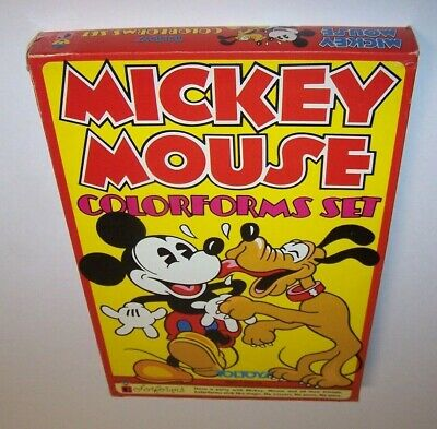 Vintage Walt Disney Mickey Mouse Colorforms Play Set Imported Australia 1980s