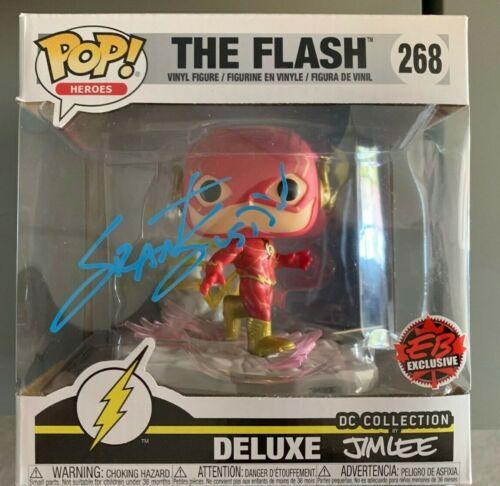 The Flash Grant Gustin Jim Lee Exclusive Funko Pop Vinyl Autographed Signed COA