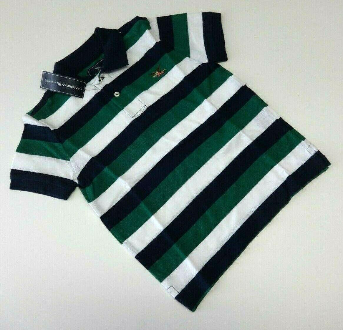 Poloshirt T-Shirt 104/110 gestreift USA size 5 Junge Polohemd Sommer neu grün