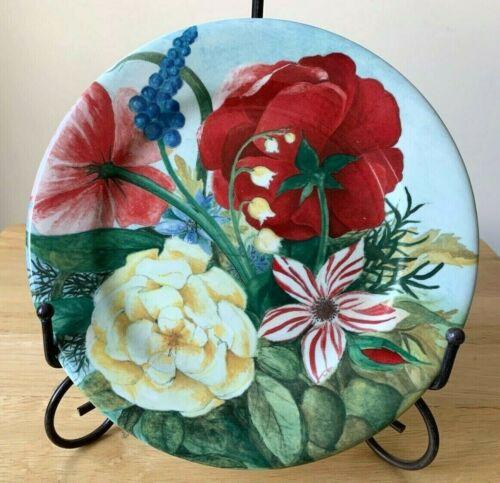 """GIEN FRANCE VOLUPTE 8 5/8"""" Floral Salad Dessert Plate - EUC - 4 Available"""