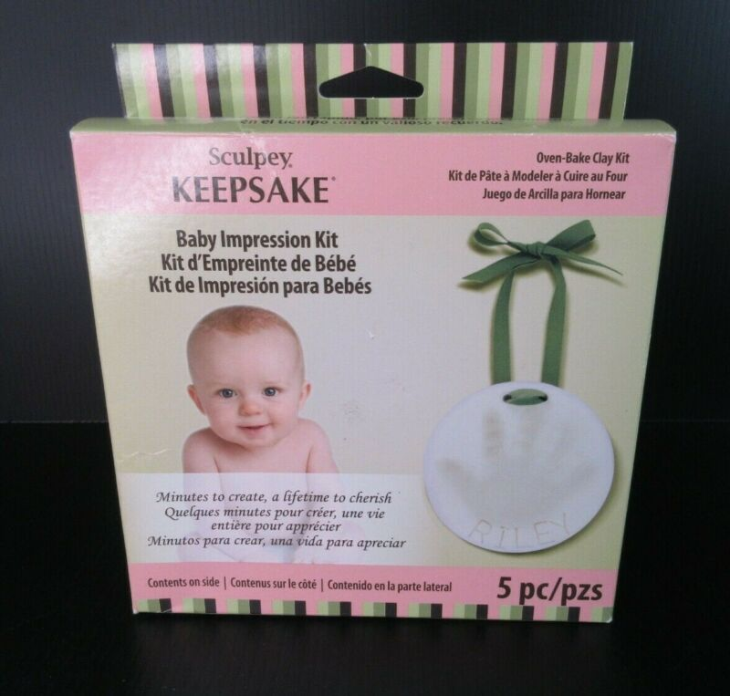 Sculpey Oven Bake Clay & Frame Kit Keepsake for Baby Hands / Feet - FREE SHIP!