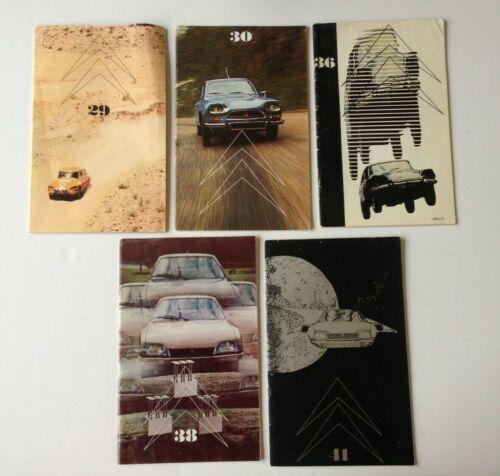 5 Issues Le Double Chevron CITROEN MAGAZINE Collectors