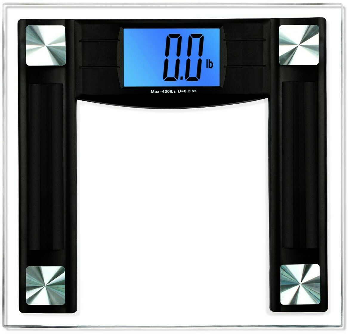 BalanceFrom Digital Body Weight Bathroom Scale with Step-On