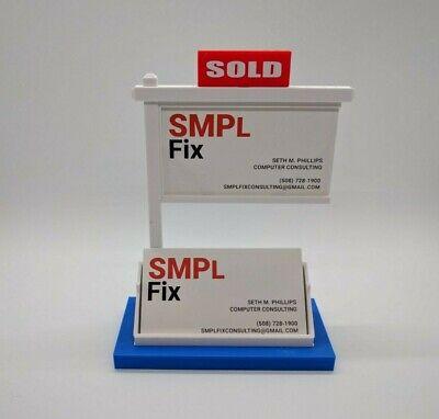 Real Estate Business Card Holder-business Card Displaybusiness Card Holder-blue
