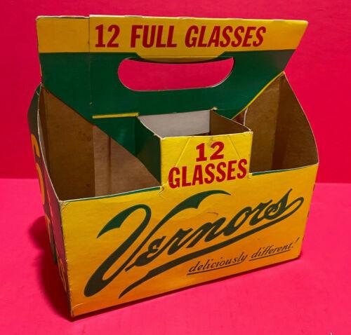 Vernors Soft Drink Soda Pop Cardboard 6 Bottle Carrier Holder Carton Ginger Ale
