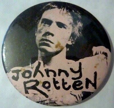 "JOHNNY ROTTEN"" Vintage 1970's -1980's Button/Badge 2 ½ """