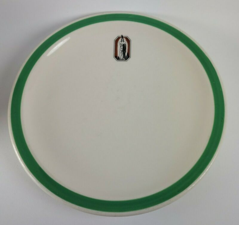 RARE Vtg Syracuse China Restaurant Ware Dinner Plate Native American Indian Deco