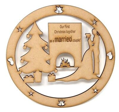 First Christmas as a Married couple gift, First Christmas together, wooden mdf  ()