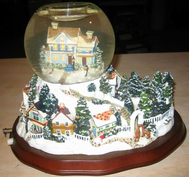 PartyLite ~ HOLIDAY WISHES TEALIGHT GLOBE ~ Music, Snow Globe.