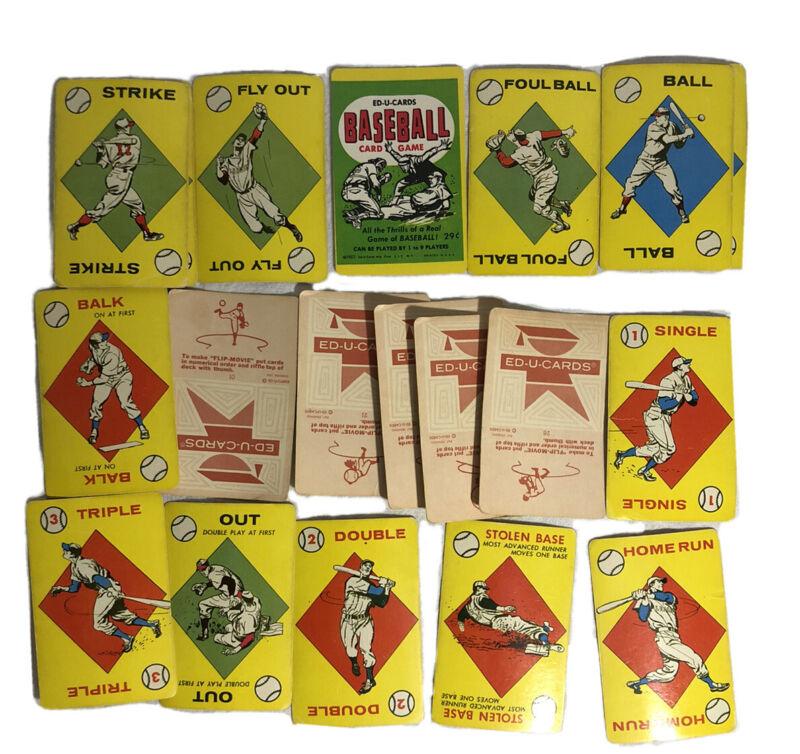 Vintage Ed U Cards Baseball Card Game 1957