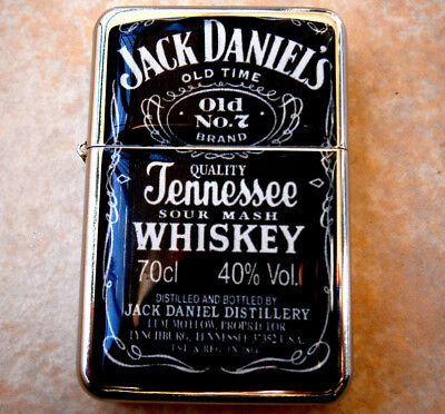 QUALITY STAR BRAND CIGARETTE LIGHTER USA JACK DANIELS old 7 & extra zippo flints for sale  Shipping to United States
