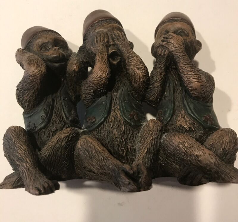 Wise Monkeys Figures, See No Hear No Speak No Evil (#260)