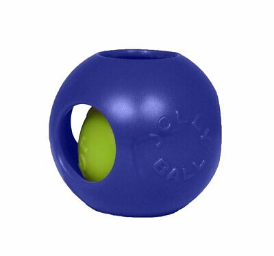 Jolly Pet Teaser Ball Blue Plastic Durable Dog Interactive Toy 4.5 inch Jolly Ball Plastic Balls