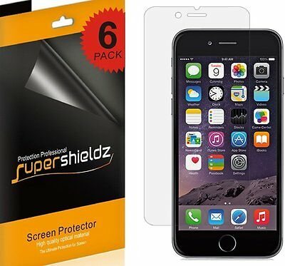 6X Supershieldz Clear Screen Protector Shield Saver for