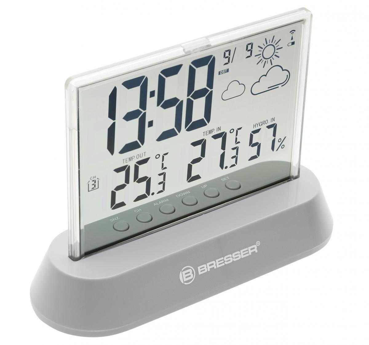 Digitale Funkwetterstation Wetter Messung Temperatur Uhr Außen Innen Alarm Neu