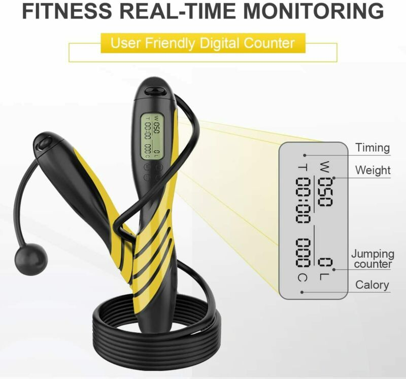 Jump Rope Digital Counting, With Alarm Reminder,With Calorie Counter For Fitness