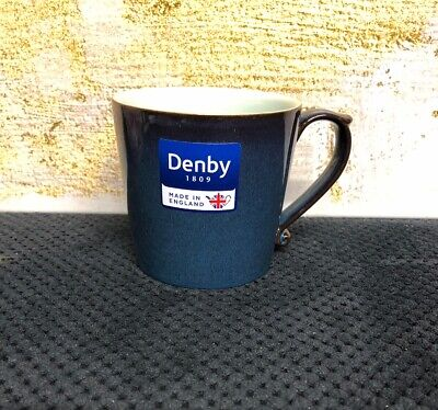 Denby Peveril Large Mug Stoneware Blue 10 oz  / 1 Cup New With Tags ()