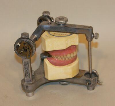 Vintage Hanau Buffalo Ny Dental Articulator W Dentures Teeth Condylar Steampunk