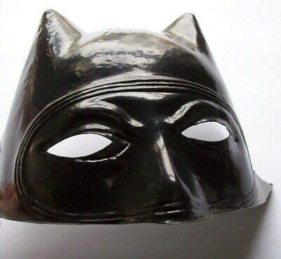 Batman Mask Vintage Halloween Costume Cowl New Old Stock Soft Plastic SuperHero  - Old Vintage Halloween Masks