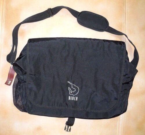 NWT Bloch A49 Dance Bag Black w/Silver Logo  Zipper Closure Oversized