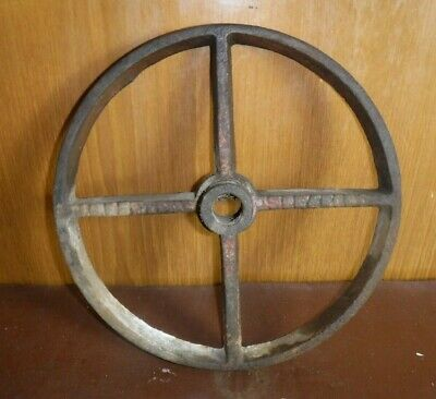 Vintage Cast Iron Wheel (643P)