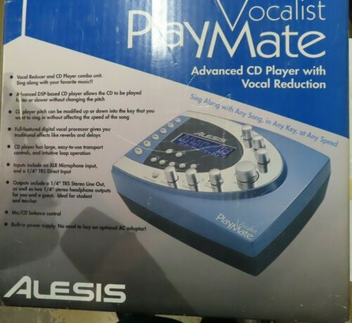 NEW HTF ALESIS VOCALIST PLAYMATE ADVANCED CD PLAYER / VOCAL REDUCER COMBO UNIT