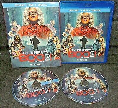 A Good Halloween Movies (Tyler Perrys Boo 2: A Madea Halloween (Blu-Ray+DVD,2018) W/Slipcover VERY)