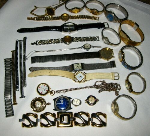 Vintage Lot of Watches Men & Lady Repair & Parts
