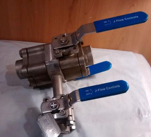 "J-Flow Controls Double Block and Bleed Steel Ball Valve 1"" & 1/2"" 4633 DBB"