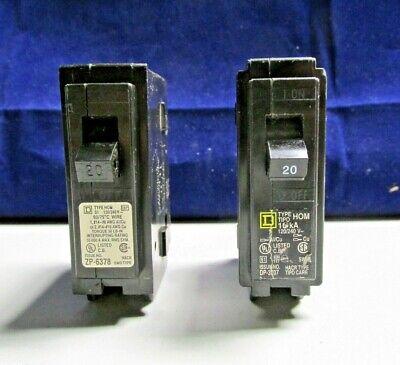 Square D Homline 20 Amp Single Pole Circuit Breaker Catalog Hom120