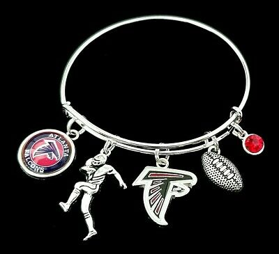 Falcon Logo Charm - Atlanta Falcons NFL Premium Quality Team Logo Charm Football Bracelet Jewlery