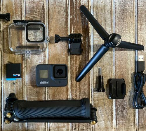 GoPro Hero8 Black CHDHX-801 Camera+64GB+Gemi Supersuit+3-Way Arm/Grip + Tripod