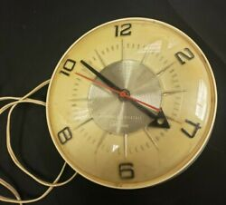 1950's/60'S CANADIAN GENERAL ELECTRIC WALL CLOCK MODEL LK-107 RETRO TESTED/WORK