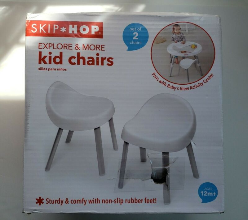 Skip Hop Explore & More Kids Chairs, White - Box has Cosmetic Damage