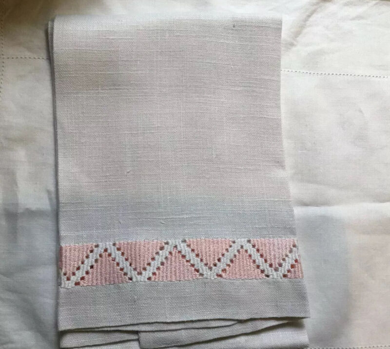 Linen Antique Hand Or Bath Towel