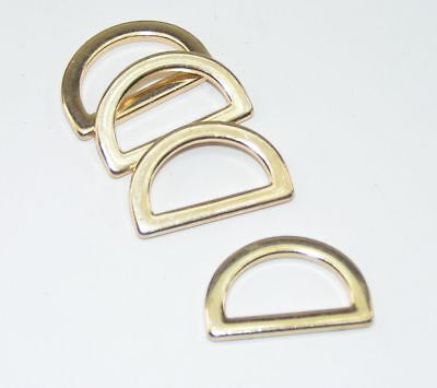 8d Ring (8 D-Ringe flach gold 20mm  (27x17mm) rostfrei   03.16/455)