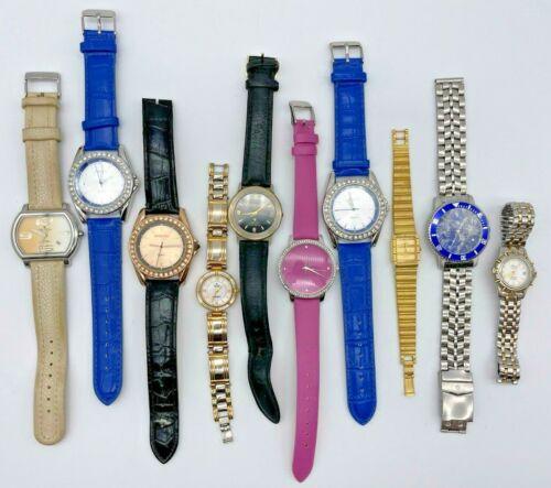 Lot of 10 CROTON Watches - Steel/Leather, Modern, Quartz Men