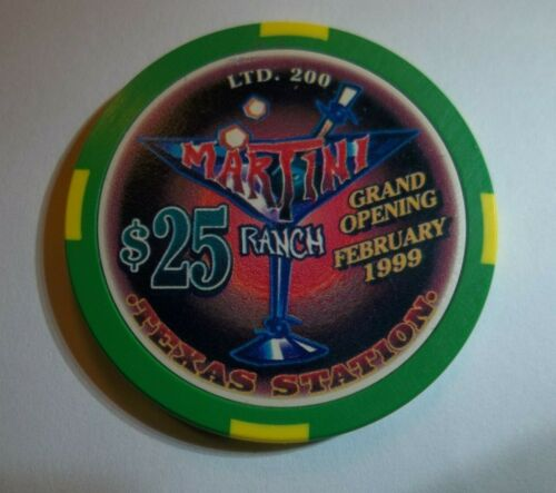 Texas Station $25.00 Martini Ranch Grand Opening Casino Chip North Las Vegas Nv