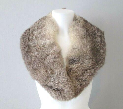 Coyote Fur Collar Vintage 1940s Genuine Soft Marbled Brown Beige Winter Accessor