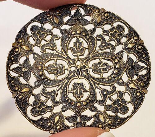 "Vintage/Antique Button…Huge Lacy Openwork Brass …1&11/16"""