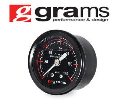 GRAMS FUEL PRESSURE GAUGE 0-120PSI UNIVERSAL G2-99-1200