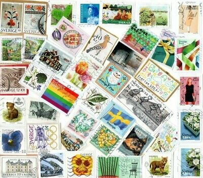 A LOVELY MIX OF DIFFERENT KILOWARE STAMPS FROM SWEDEN