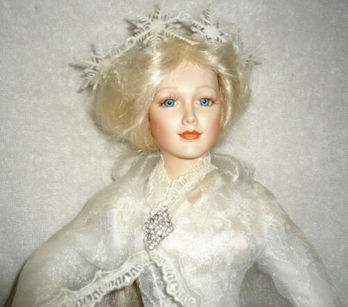 """Collector Doll, Beautiful Bride, 1994, Numbered, 20"""" Porcelain, Victorian Style"""
