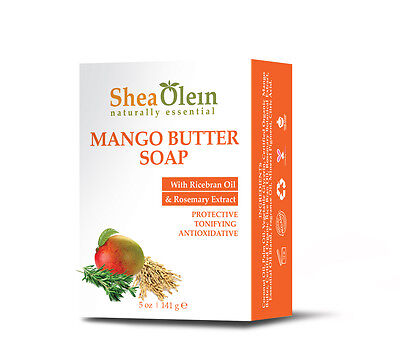 6 BAR of MANGO BUTTER SOAP With Ricebran Oil & Rosemary Extract