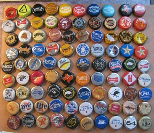 90 DIFFERENT MIXED U.S.A. DISCONTINUED/CURRENT BEER BOTTLE CAPS