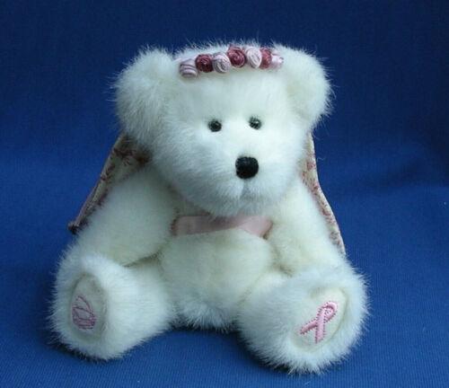 Boyds Bears Longaberger basket Faith L. Bearywell Breast Cancer angel teddy rare