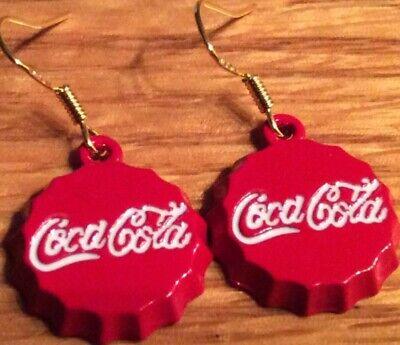 3D Coca Cola Bottle Cap Earrings 👻🧲 Mini Style 2~Cool~4~School New