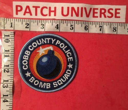 COBB COUNTY GEORGIA  BOMB SQUAD  SHOULDER PATCH  K120
