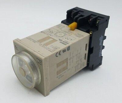 Omron H3cr-hrl Power Off Delay Timer 11 Pin 100-120vac 0.05-12min Socket P2cf-11